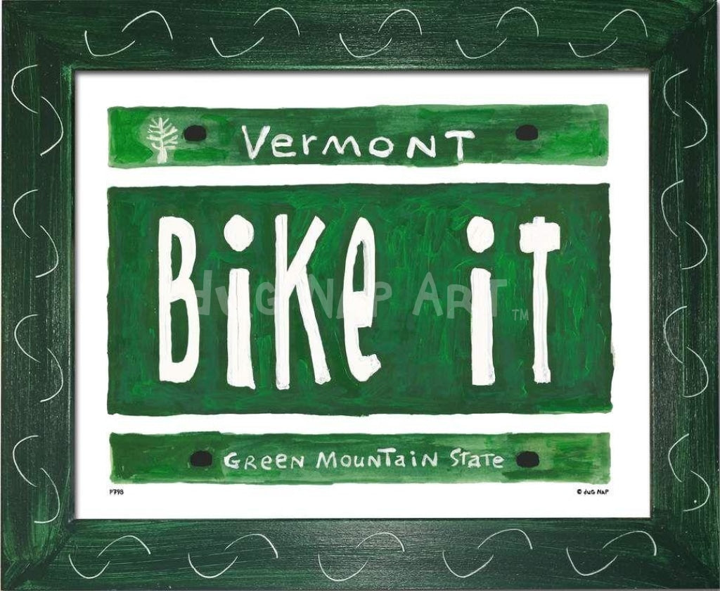 P798 - VT Plate - BIKE IT - dug Nap Art