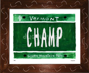 P836 - VT Plate CHAMP - dug Nap Art