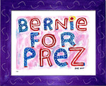 P837 - Bernie For Prez Framed Print / Small (8.5 X 11) Purple Art