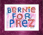 P837 - Bernie For Prez Framed Print / Small (8.5 X 11) Violet Art
