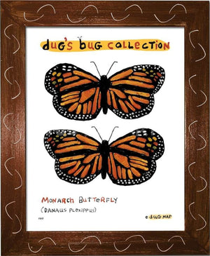 P847 - Monarch Framed Print / Small (8.5 X 11) Brown Art