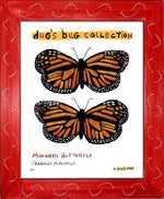 P847 - Monarch Framed Print / Small (8.5 X 11) Red Art