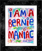 P867 - Bernie Maniac Framed Print / Small (8.5 X 11) Black Art
