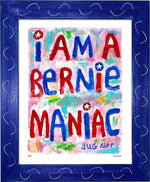 P867 - Bernie Maniac Framed Print / Small (8.5 X 11) Blue Art