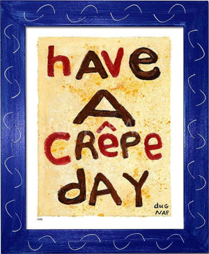 P878 - Crepe Day Framed Print / Small (8.5 X 11) Blue Art