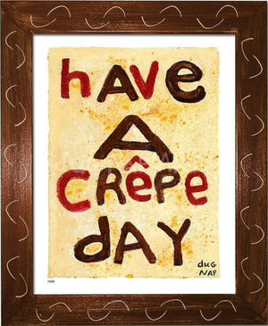 P878 - Crepe Day Framed Print / Small (8.5 X 11) Brown Art