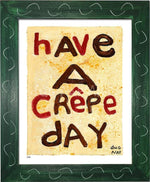 P878 - Crepe Day Framed Print / Small (8.5 X 11) Green Art