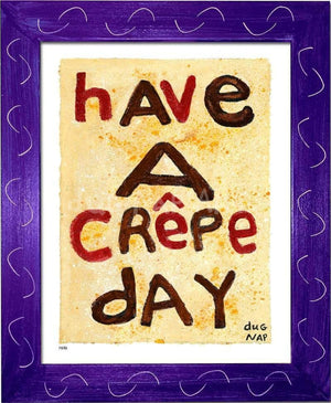 P878 - Crepe Day Framed Print / Small (8.5 X 11) Purple Art
