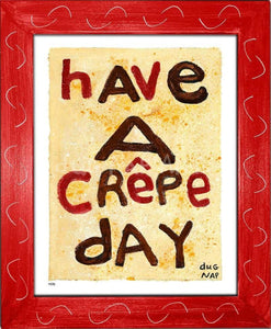 P878 - Crepe Day Framed Print / Small (8.5 X 11) Red Art