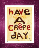 P878 - Crepe Day Framed Print / Small (8.5 X 11) Violet Art