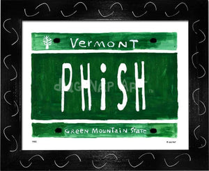P882 - Vt Plate Phish Framed Print / Small (8.5 X 11) Black Art