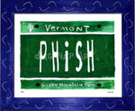 P882 - Vt Plate Phish Framed Print / Small (8.5 X 11) Blue Art
