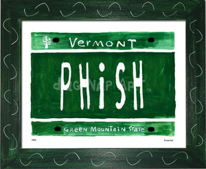 P882 - Vt Plate Phish Framed Print / Small (8.5 X 11) Green Art
