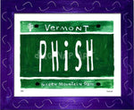P882 - Vt Plate Phish Framed Print / Small (8.5 X 11) Purple Art