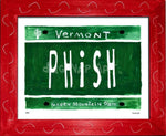 P882 - Vt Plate Phish Framed Print / Small (8.5 X 11) Red Art
