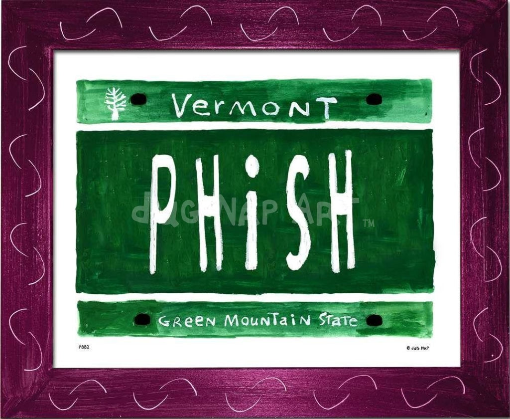 P882 - Vt Plate Phish Framed Print / Small (8.5 X 11) Violet Art