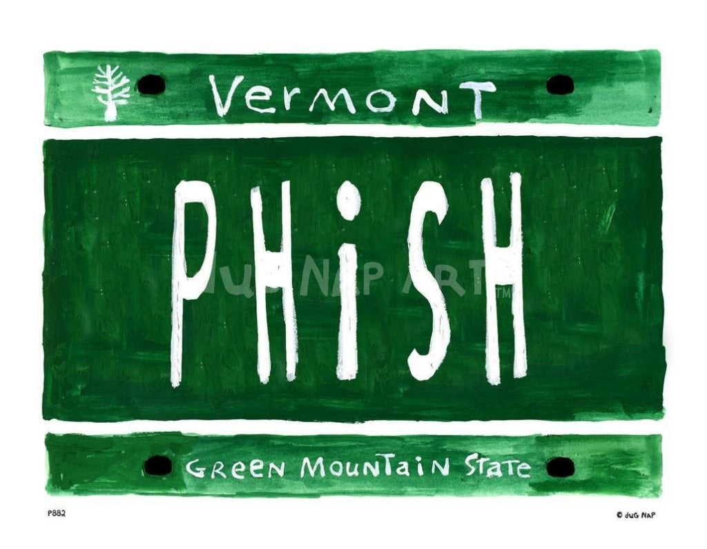 P882 - Vt Plate Phish Unframed Print / Small (8.5 X 11) No Frame Art