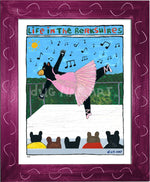 P883 - Berkshire Dancing Bear Framed Print / Small (8.5 X 11) Violet Art