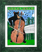 P884 - Cello Bear - dug Nap Art