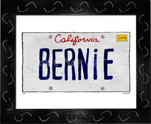 P901 - Ca Bernie Plate Framed Print / Small (8.5 X 11) Black Art