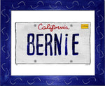 P901 - Ca Bernie Plate Framed Print / Small (8.5 X 11) Blue Art