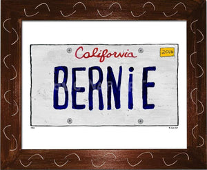 P901 - Ca Bernie Plate Framed Print / Small (8.5 X 11) Brown Art