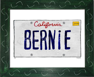 P901 - Ca Bernie Plate Framed Print / Small (8.5 X 11) Green Art