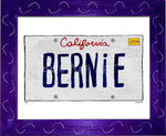 P901 - Ca Bernie Plate Framed Print / Small (8.5 X 11) Purple Art