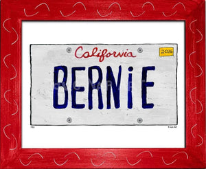 P901 - Ca Bernie Plate Framed Print / Small (8.5 X 11) Red Art