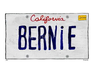 P901 - Ca Bernie Plate Unframed Print / Big (16 X 20) No Frame Art