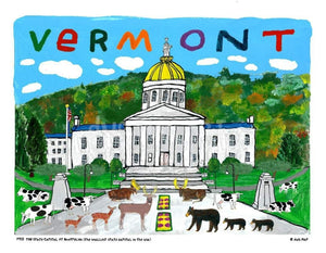 P913 - Vermont State Capital - dug Nap Art