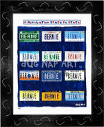 P915 - Bernie States Framed Print / Small (8.5 X 11) Black Art