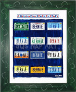 P915 - Bernie States Framed Print / Small (8.5 X 11) Green Art