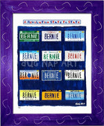 P915 - Bernie States Framed Print / Small (8.5 X 11) Purple Art