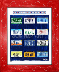 P915 - Bernie States Framed Print / Small (8.5 X 11) Red Art