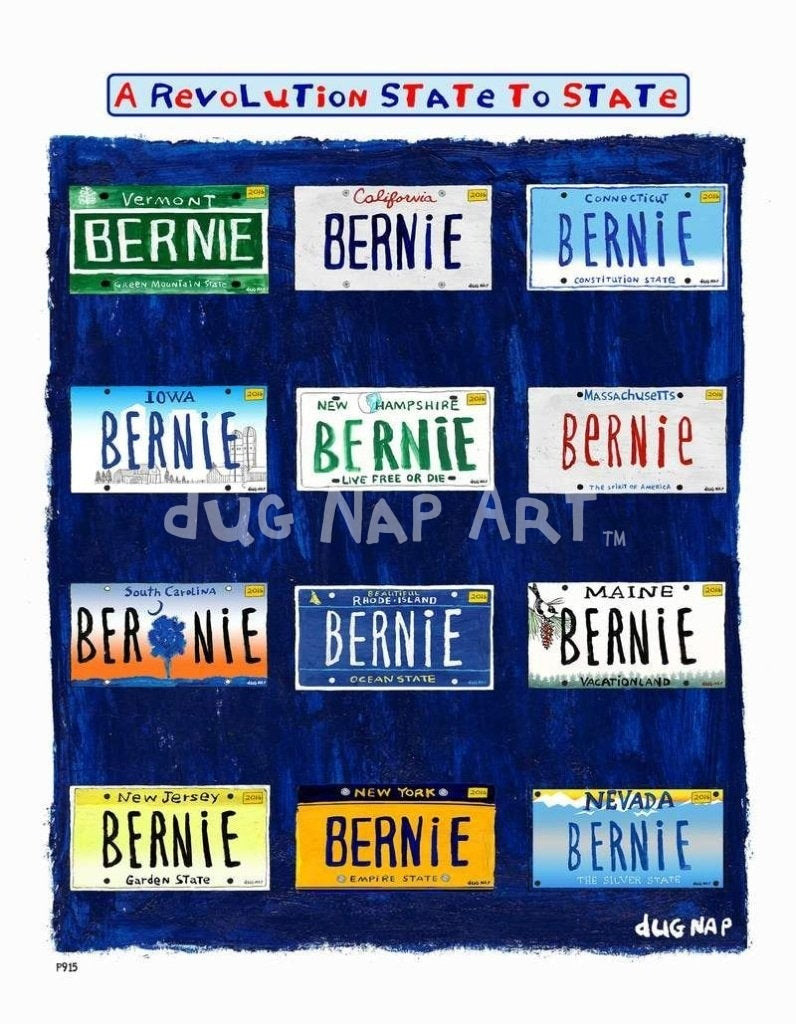 P915 - Bernie States Unframed Print / Big (16 X 20) No Frame Art