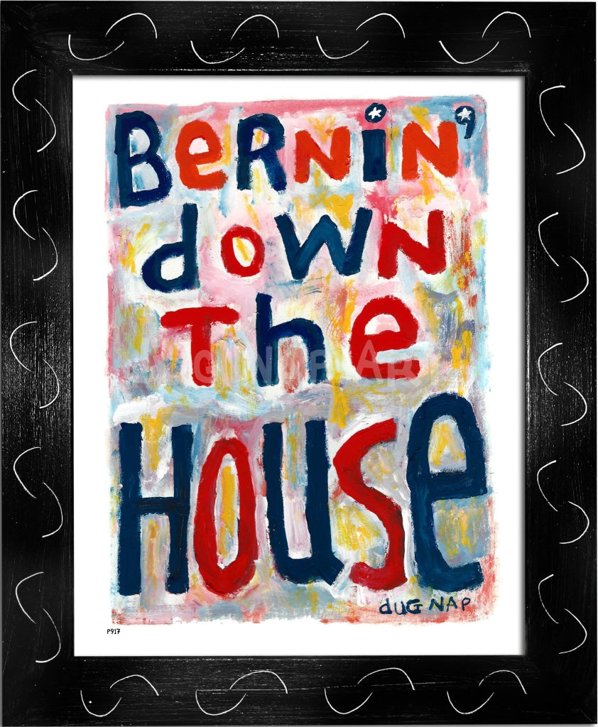 P917 - Bernin Down The House Framed Print / Small (8.5 X 11) Black Art