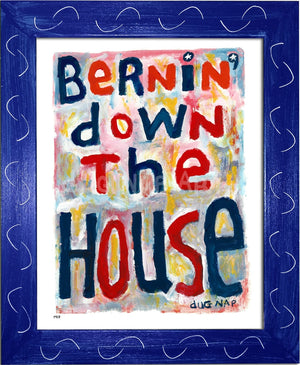 P917 - Bernin Down The House Framed Print / Small (8.5 X 11) Blue Art