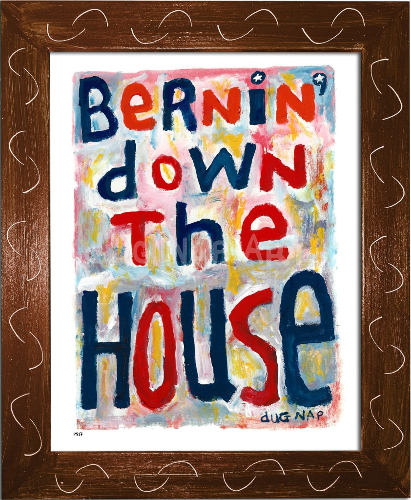 P917 - Bernin Down The House Framed Print / Small (8.5 X 11) Brown Art