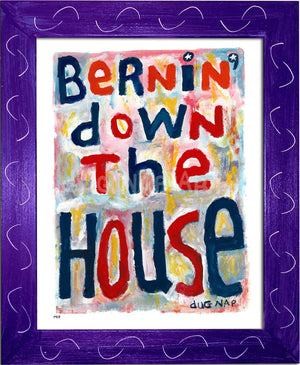 P917 - Bernin Down The House Framed Print / Small (8.5 X 11) Purple Art