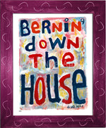P917 - Bernin Down The House Framed Print / Small (8.5 X 11) Violet Art