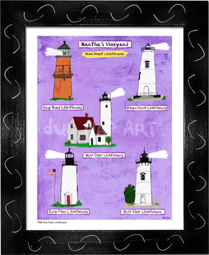 P930 - Mv Home Sweet Lighthouses Framed Print / Small (8.5 X 11) Black Art