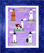 P930 - Mv Home Sweet Lighthouses Framed Print / Small (8.5 X 11) Blue Art