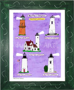 P930 - Mv Home Sweet Lighthouses Framed Print / Small (8.5 X 11) Green Art