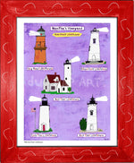 P930 - Mv Home Sweet Lighthouses Framed Print / Small (8.5 X 11) Red Art