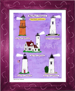 P930 - Mv Home Sweet Lighthouses Framed Print / Small (8.5 X 11) Violet Art