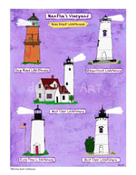P930 - Mv Home Sweet Lighthouses Unframed Print / Big (16 X 20) No Frame Art