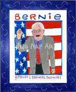 P931 - Bernie Chant Framed Print / Small (8.5 X 11) Blue Art