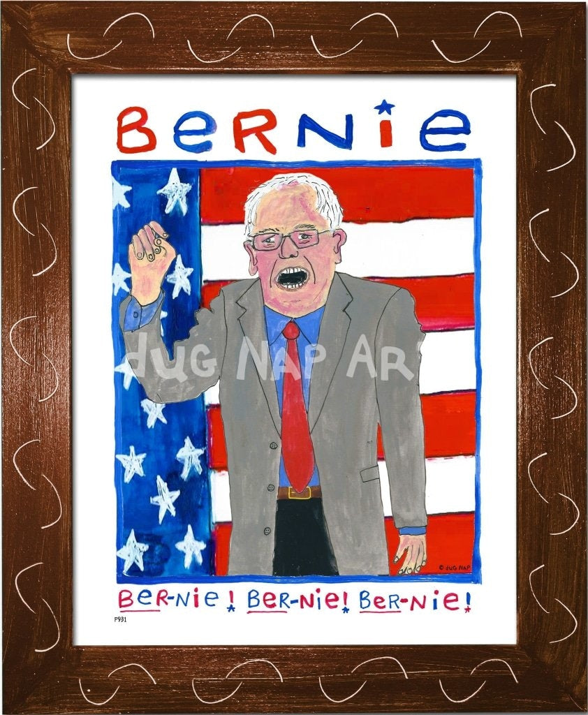P931 - Bernie Chant Framed Print / Small (8.5 X 11) Brown Art