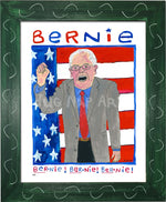P931 - Bernie Chant Framed Print / Small (8.5 X 11) Green Art